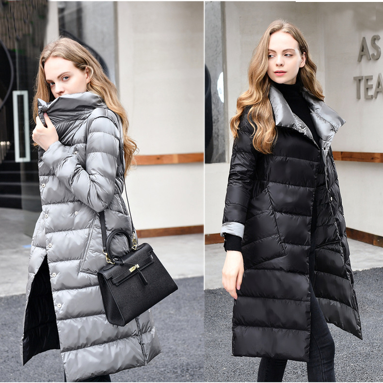 2018 Winter White Duck Down Jackets Padded Plus Size Down Coat Women Fashion Elegant Double breasted