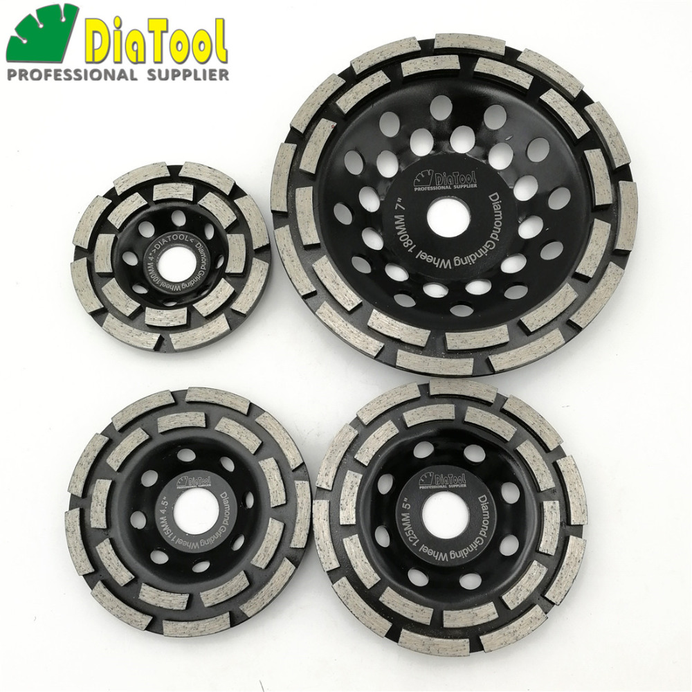 DIATOOL Diamond Double Row Grinding Cup Wheel Diamond Grinding Disc Polishing Grinding Concrete Masonry Granite Marble цена