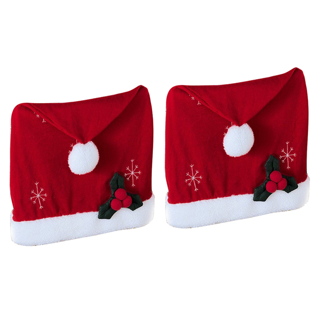 santa hat christmas chair covers set of 2 by collections etc - Www Collectionsetc Com Christmas
