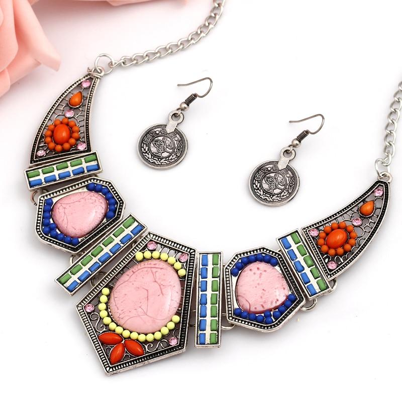 ZOSHI New Crystal Stone Jewelry Set Necks