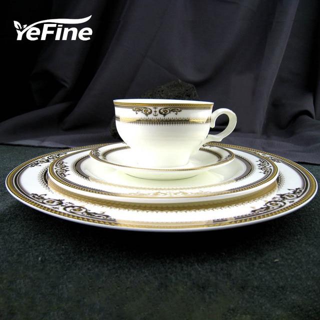 YeFine Royal Bone China Porcelain Dinnerware Set Western Tableware Sets Dinner Plates Ceramic Dishes Coffee Mugs & YeFine Royal Bone China Porcelain Dinnerware Set Western Tableware ...