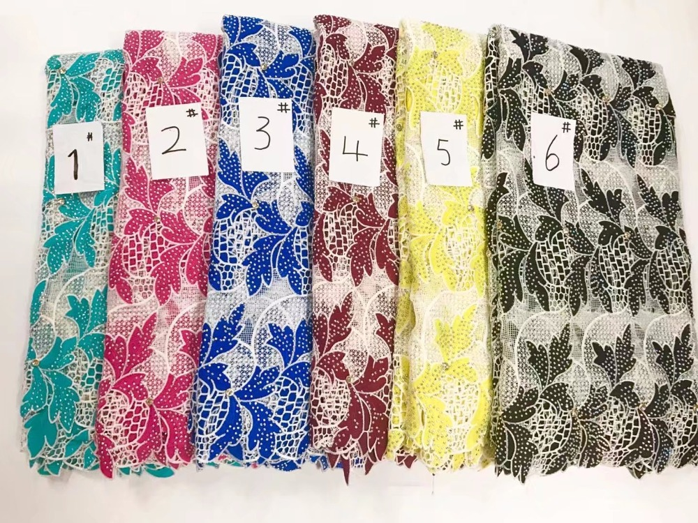 5 yards/lot 2017 Free Shipping Hot Selling Swiss French Fashion Beaded lace fabric lace fabrics high quality for wedding Dress