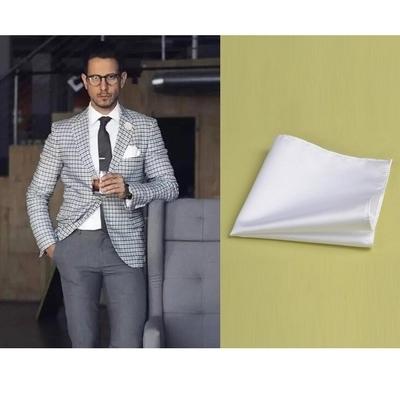 Envío de la Alta calidad clásica de algodón blanco 7 colores pañuelo cuadrado de seda traje de pecho cuadrado contrajo accesorios de los hombres