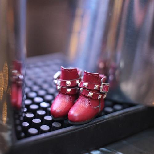 OB11 chaussures 2 styles rivet bottes disponibles pour OB11 cu-poche Middie Blyth 1/12 BJD poupée accessoires poupée chaussures