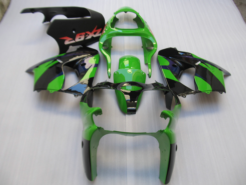 Aftermarket body parts fairing kit for Kawasaki ninja ZX9R 2000 2001 green black fairings set ZX9R 00 01 OT05 compression mold bodykit for kawasaki fairing kits zx9r 2000 2001 zx 9r 00 01 ninja customize green purple body parts 7gifts
