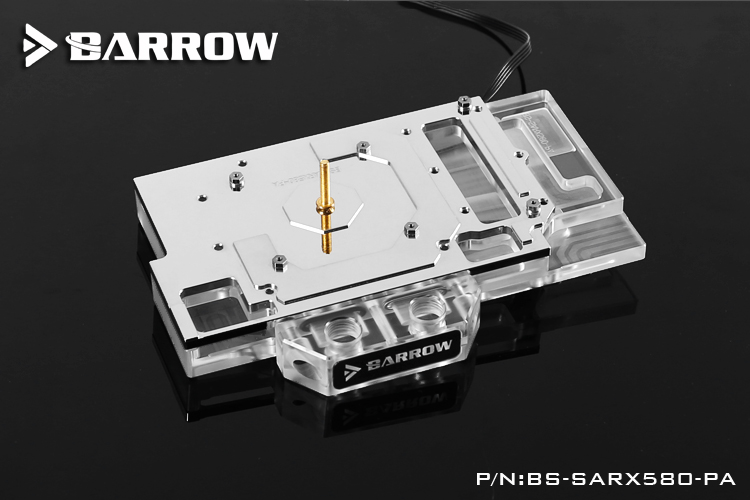 Barrow GPU Water Block For SAPPHIRE Platinum RX580 Water