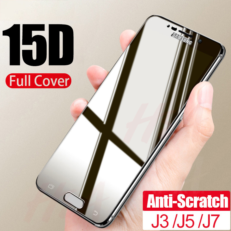 15D 9H Tempered Glass For Samsung Galaxy J3 J5 J7 J4 J6 Plus J8 2018 Screen Protector J3 J5 J7 2016 2017 Protective Glass Film