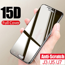 15D 9H Tempered Glass For Samsung Galaxy J3 J5 J7 J4 J6 Plus J8 2018 Screen Prot