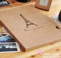 High Quality Romantic Eiffel Tower Photo Album A4 Handmade Vintage DIY Scrapbooking Photo Album Photo Corners