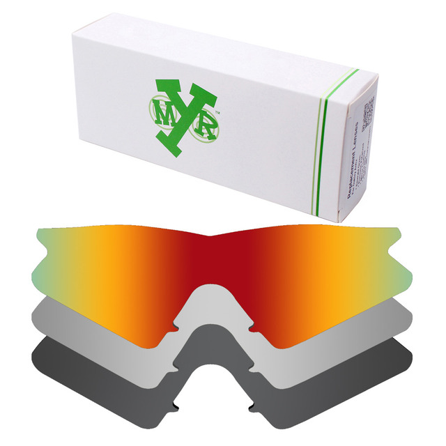 0081ba1b70a 3 Pieces Mryok Anti-Scratch POLARIZED Replacement Lenses for Oakley M Frame  Sweep Sunglasses Black   Red   Silver