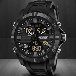 COOL Men's Digital Watch Double Display 30M Waterproof Sports LED Watch 6 Colors Available reloj deportivo hombre reloj digital