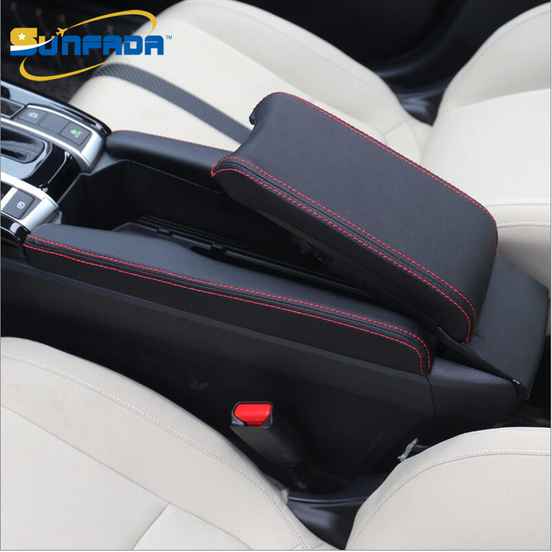 Sunfada High Quality Pu Leather Case Protective Sleeve Car Covers For Honda Civic 10th 2016 2017 Center Storage Box Update