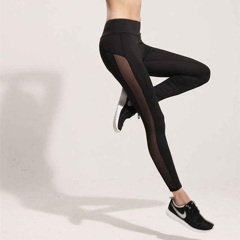 5e490332ab583d Fashion Women Ladies Fitness Workout Black Mesh Leggings for women pants  sexy girl take exercise wear