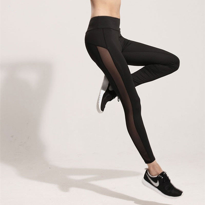 Fashion Women Ladies Fitness Workout Black Mesh   Leggings   for women pants sexy girl take exercise wear trousers