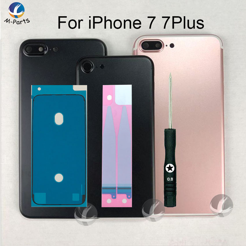 EU Version CE Sign Back Housing For IPhone 7 7P Plus Metal Case Battery Cover Frame Middle Chassis Lid Case Body With Free Gift