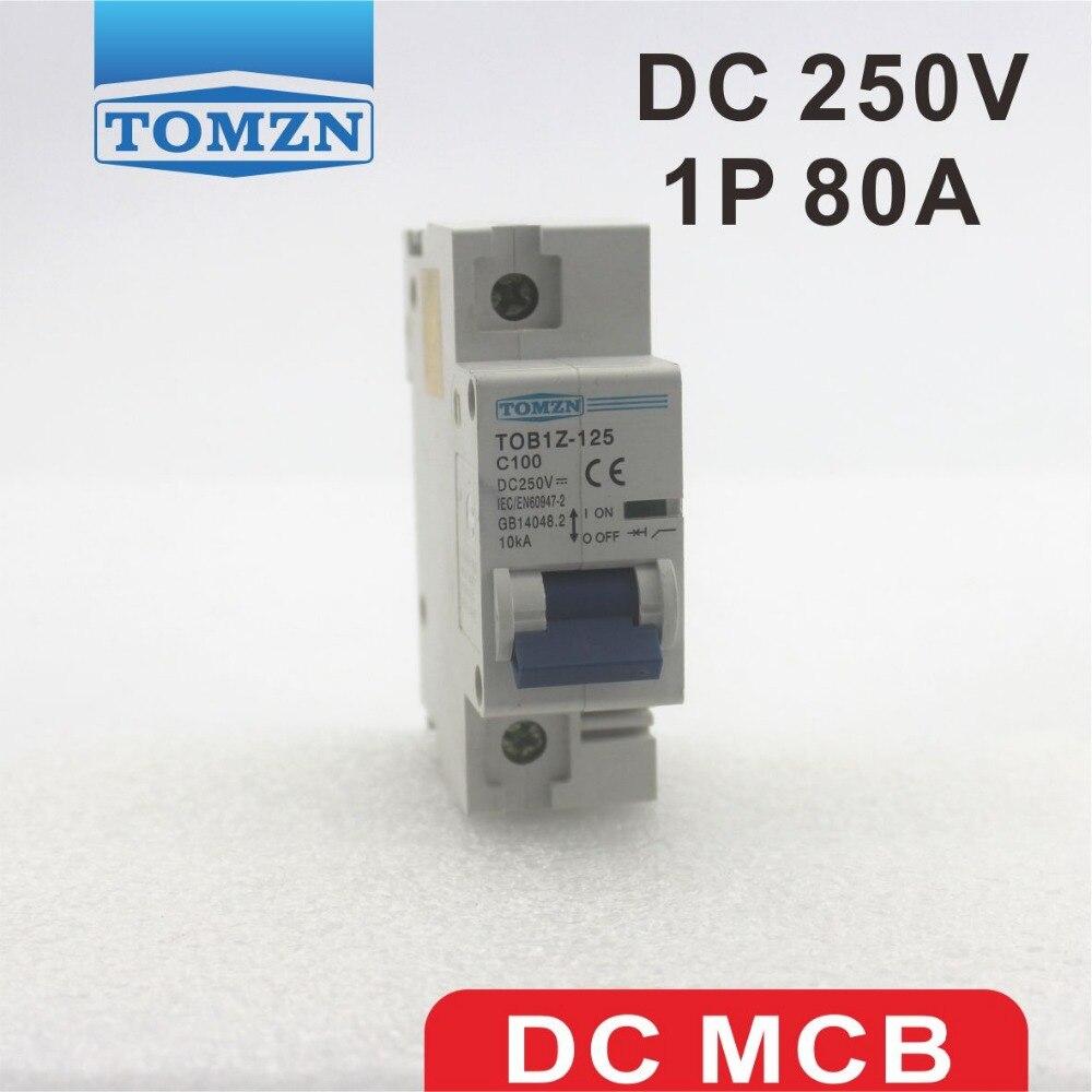 Dz158 Interruptor De Aire De Disyuntor Casero Mini 1P 2P 3P 4P 80A 100A 125A Mcb