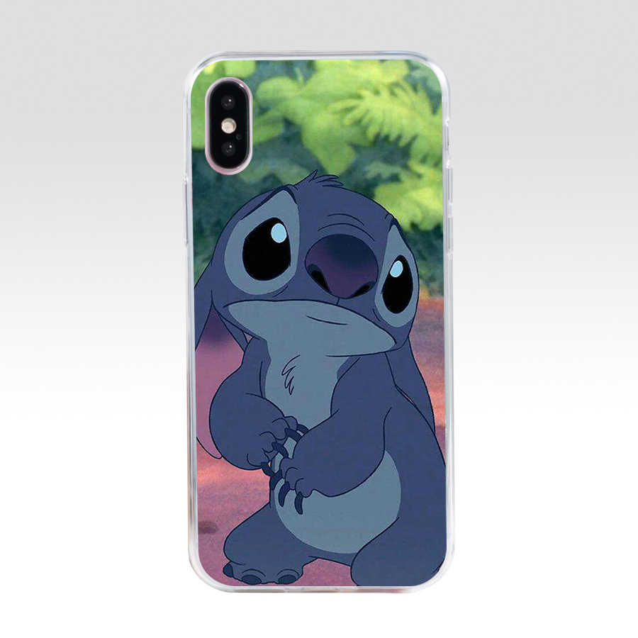 97WE bonito dos desenhos animados Lilo ponto Suave Silicone Capa Tpu phone Case para iphone 5 5s se X XR XS caso Max