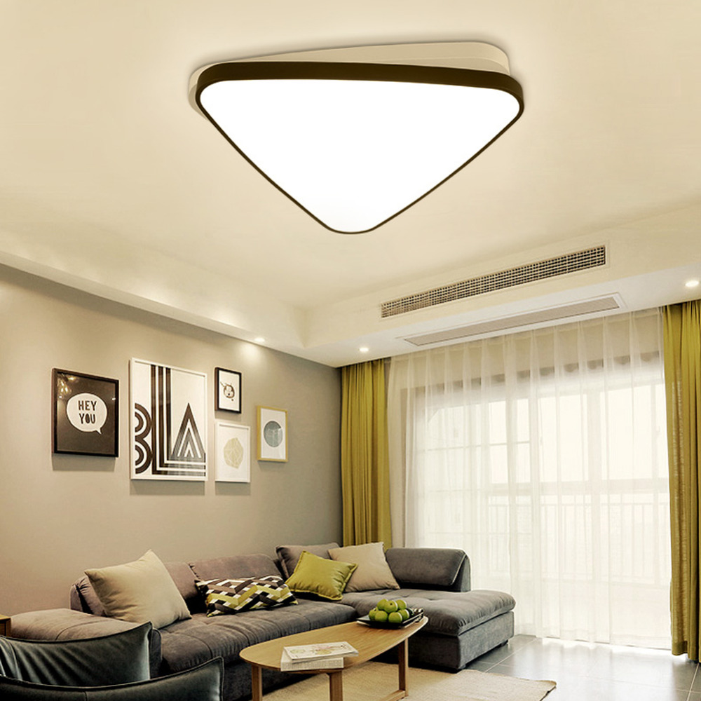 Modern LED Ceiling Lamp Panel Light Black Round Lighting Fixture Hall Surface Mount Flush Living Room Bedroom Remote Control noosion modern led ceiling lamp for bedroom room black and white color with crystal plafon techo iluminacion lustre de plafond