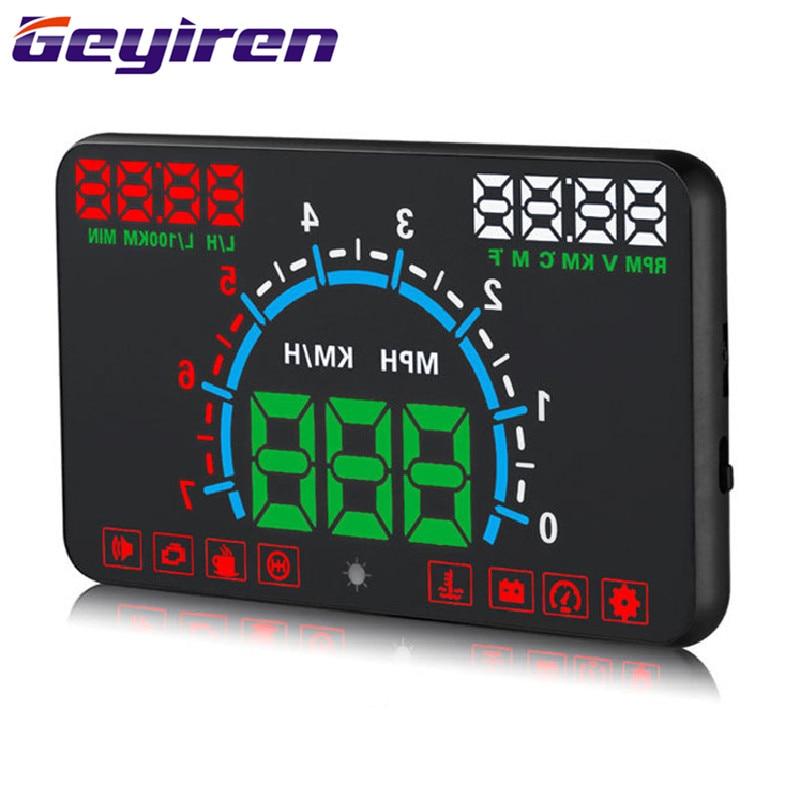 Автомобильный дисплей с дисплеем HUD, Универсальный Автомобильный дисплей s, аксессуары для электроники, HD скоростной цифровой проектор OBD E350