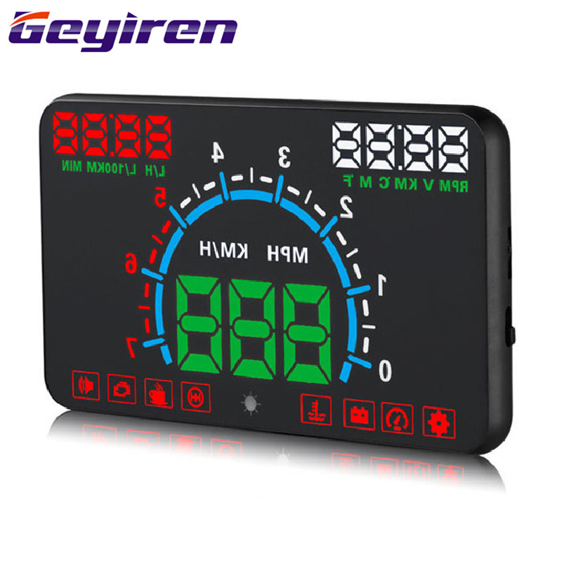 Head Up Display Car HUD Head up Displays Vehicle Universal Car Electronics Accessories HD Speed Digital Projector OBD E350