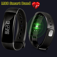 Joinrun M88 Bluetooth 4 0 Heart Rate Blood Pressure Monitor Smart Bracelet IP67 Waterproof Smart Band