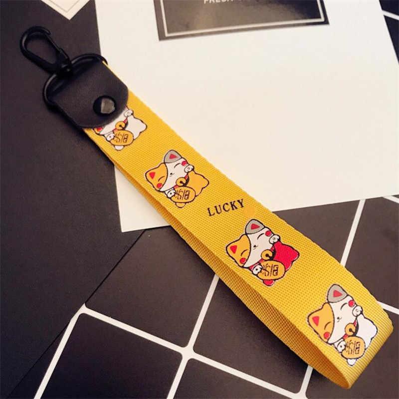 Роскошные ручной работы ткань Ленточки автомобильный брелок для ключей с лентой цепочка для ключей Для женщин Очаровательная подвеска для сумок с рисунком смайлика брелок, Украшение Аксессуары