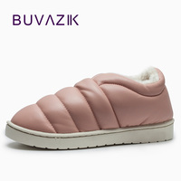 2017 Winter PU Leather Women Outdoor Thick Bottom Non Slip Waterproof Warm Snow Boots Cotton Shoes