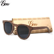 GM Top Walnut Wooden Frame Sunglasses With Coating Mirror Le