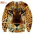 Alisister 3d sudaderas hombres y mujeres hip hop sudadera divertido leopard cat marca clothing hombres sudadera con capucha del chándal suéter unisex de dropship
