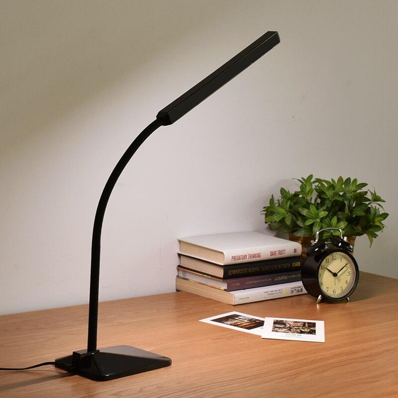 Минимализм светодиодный настольная лампа Lampara Escritorio настольная лампа сенсорный Управление затемнения офис исследование Спальня лампа для ...