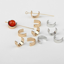 DIY pure copper environmental protection electroplated earring open circular beaded ear clip earrings accessories material