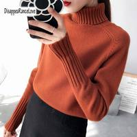 Winter Thicken Warm Oversize Sweater Women 2019 Vintage Brief Basic High Neck Pullovers Knitted Jumper Female Turtleneck Sweater