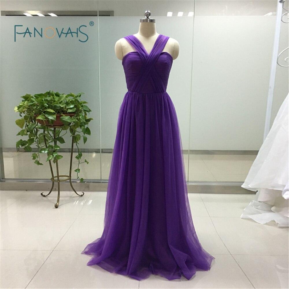 Tienda Online Primavera Verano al por mayor Púrpura Vestidos para ...