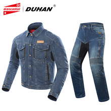 DUHAN Autumn Winter Motorcycle Jacket Men Denim Jacket Riding Jacket Moto Protective Gear Cold-proof Keep Warm Casual Clothing