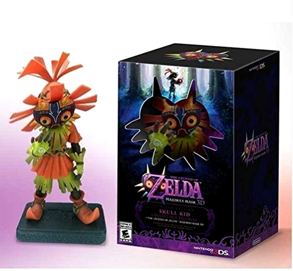 NEW legend of zelda figure skull kid majoras mask figure Limited-Edition Nintendo 3DS hori retro zelda hard pouch for new 3ds xl and nintendo 3ds xl