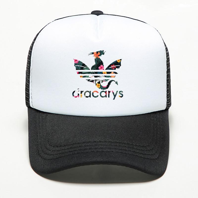 New Brand Dracarys Game Of Thrones Baseball Cap Women Men Snapback Mesh Hat Trucker Outdoor Sports Shade Cap 2019 Dropshipping