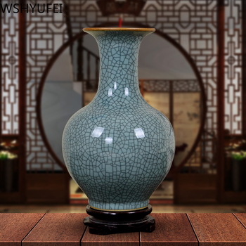 Chinese antique ceramic small vase Smooth and textured Flower arrangement hydroponic plant Living room home decoration WSHYUFEI