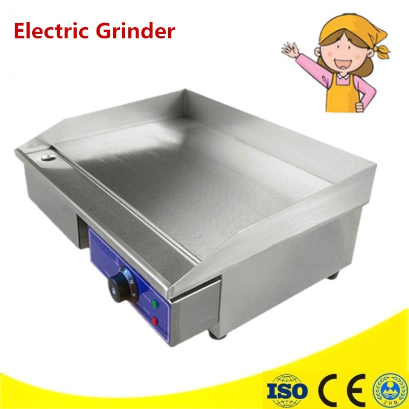 220V 3KW Commercial Electric Grill Griddle Dorayaki Teppanyaki Machine With Temperature Control 0-300 Degrees Celsius