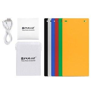 """Image 5 - PULUZ 2 LED Panels Mini Folding Studio 8"""" Diffuse Soft Box Lightbox with Black White Photography Background Photo Studio box"""