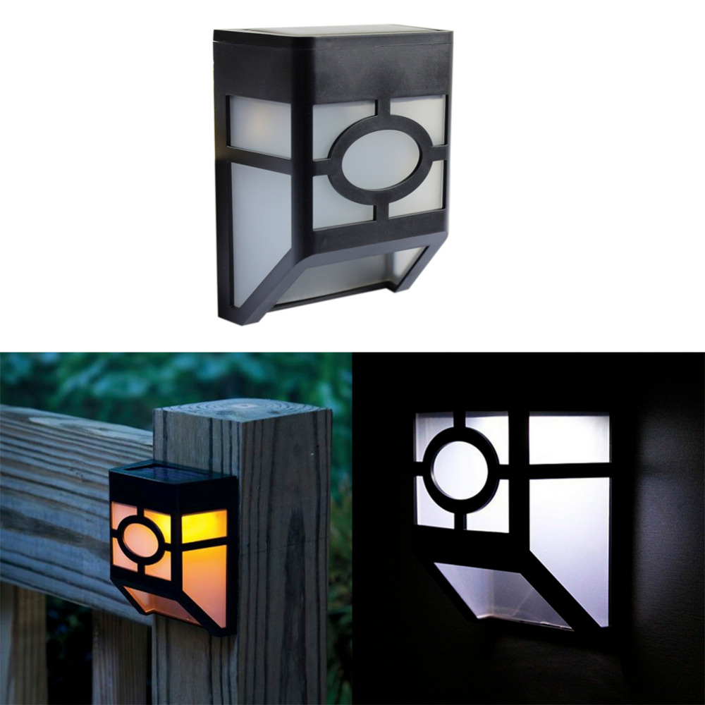 GoesWell USA Stock LED Solar Garden Light Lantern White Yellow Outdoor Waterproof 2LEDs Yard ...