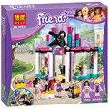 Bela 203 unids Amigos Peluquería Bloques Huecos de los Ladrillos Diy juguetes Compatible Legoe Amigos 41093 regalos de Navidad Para Las Niñas