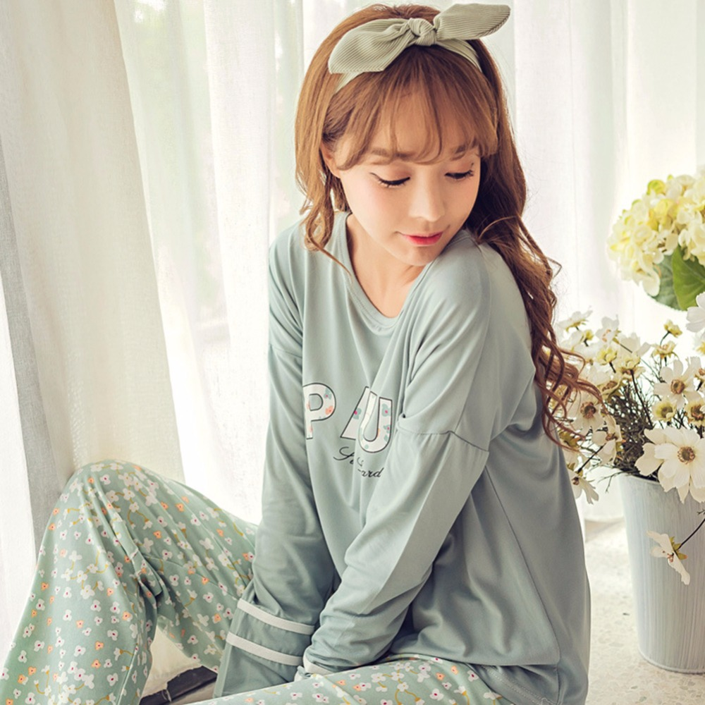 New summer spring women long-sleeve lovely cartoon women sleepwear pajamas women clothing sets female girls' pajamas sets