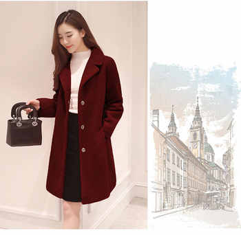women winter thick coats and jackets female warm natural Merino Sheep Fur casual plus size female middle long sleeve outwears