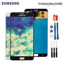 цена на AMOLED For Samsung Galaxy A9 A9000 A900 SM-A9000 Touch Screen Digitizer Replacement Phone Parts For Samsung A9000 LCD Free Tools
