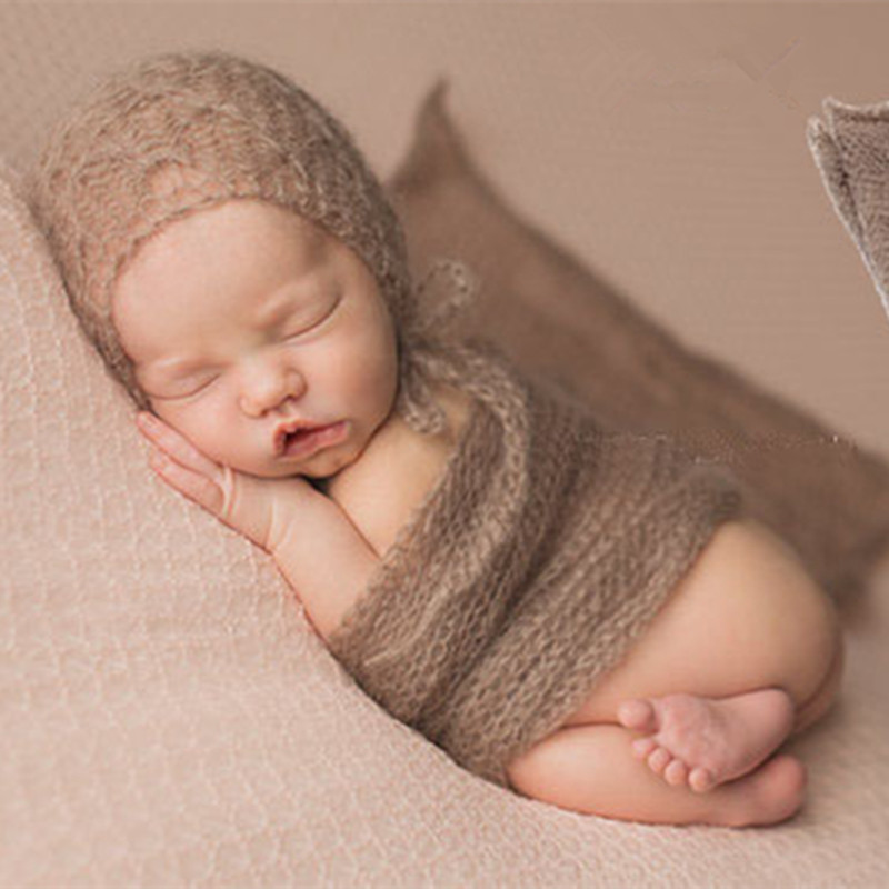40*60cm Newborn Photography <font><b>Wrap</b></font> Baby Photo Blanket Infant Studio <font><b>Cheesecloth</b></font> One Hundred Days Baby Photography Accessories 0-3M image