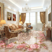 beibehang Custom fashion wall papers home decor waterproof pvc stereo European marble rose relief 3D floor zenith 3d wallpaper