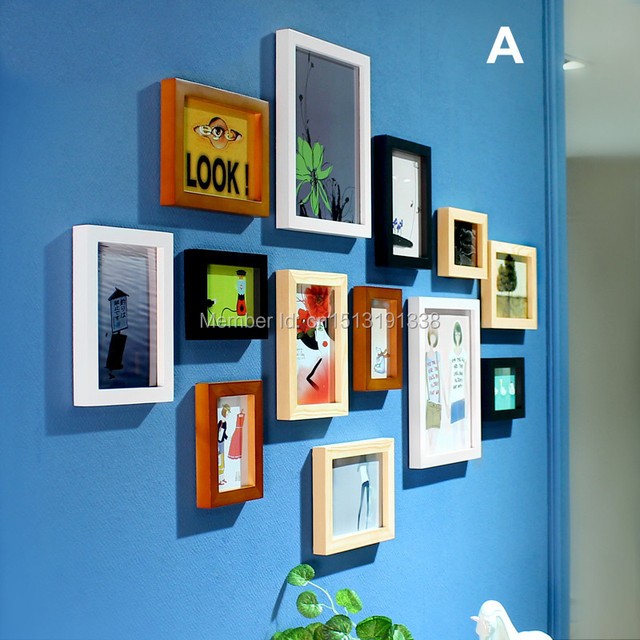 wall frames frame wall 13 box sitting room wall frame photos hanging ...