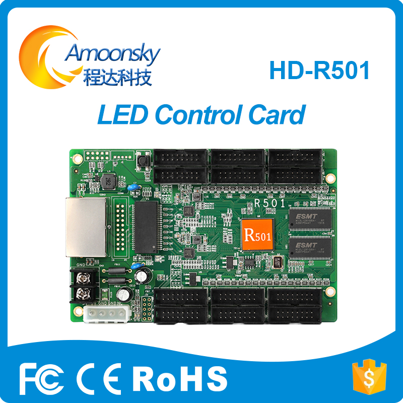 цена на Huidu HD-R501 Asynchronous Full Color LED Receiving Card LED Controller for LED Screens Work With D30 C30 D10 C10 huidu cards