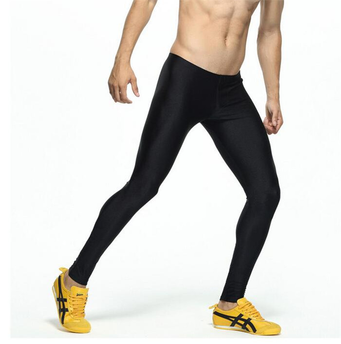Male Sport Pants Running Tights Spandex Stretch Yoga