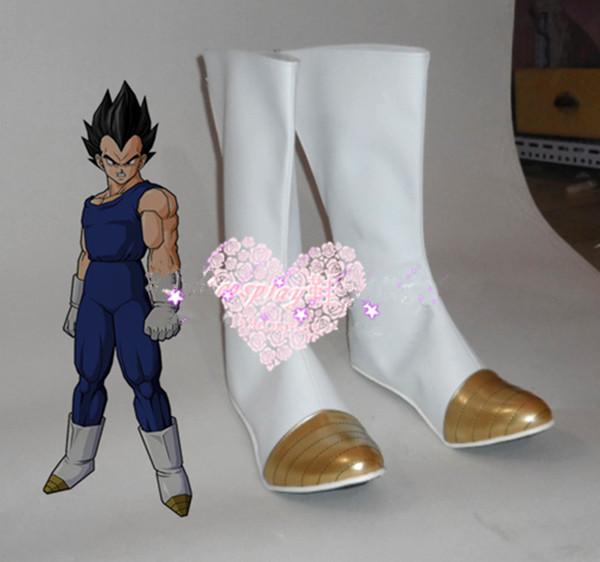 Dragon Ball Z Vegeta Halloween White Long Cosplay Shoes Boots